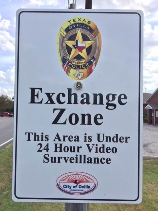 Exchange Zone Sign